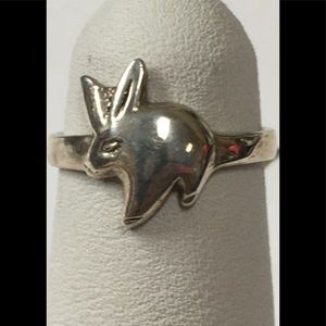 Cute Sterling Silver Bunny Ring